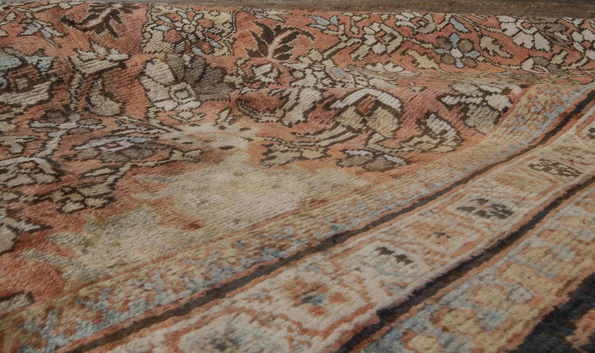 Brown Antique Persian Sultanabad Rug BB0490
