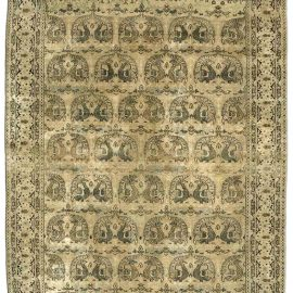 Antique Persian Tabriz Camel Handwoven Wool Carpet BB3294