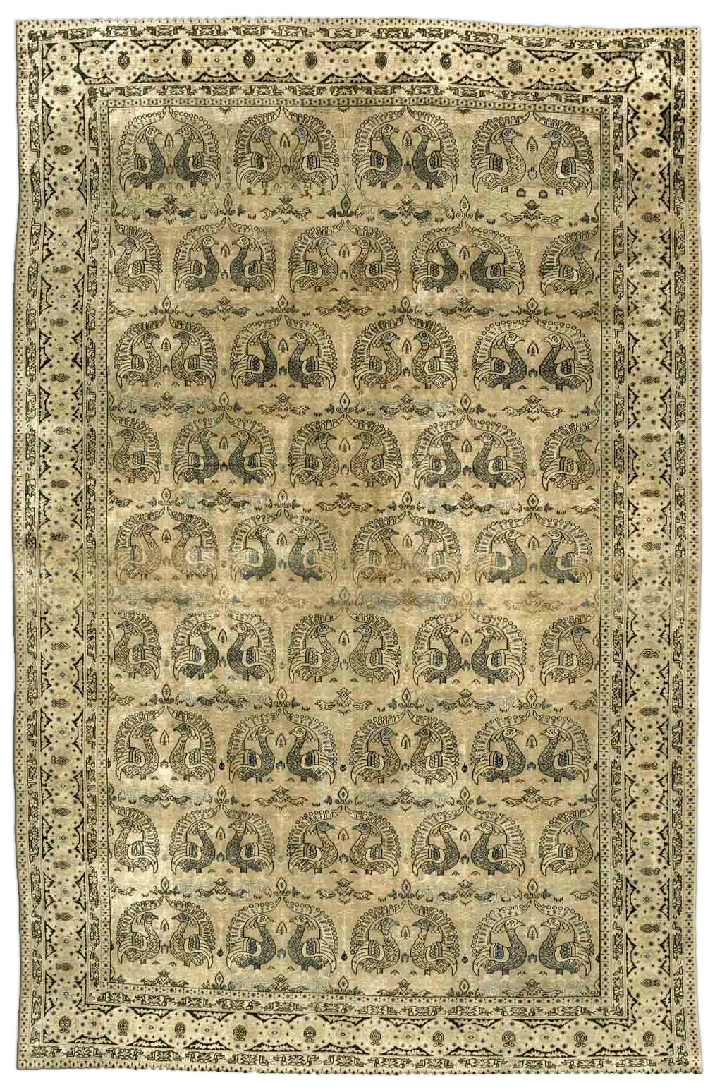 Antique Persian Tabriz Carpet BB3294
