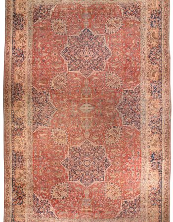 Antique Persian Tabriz Carpet BB1596