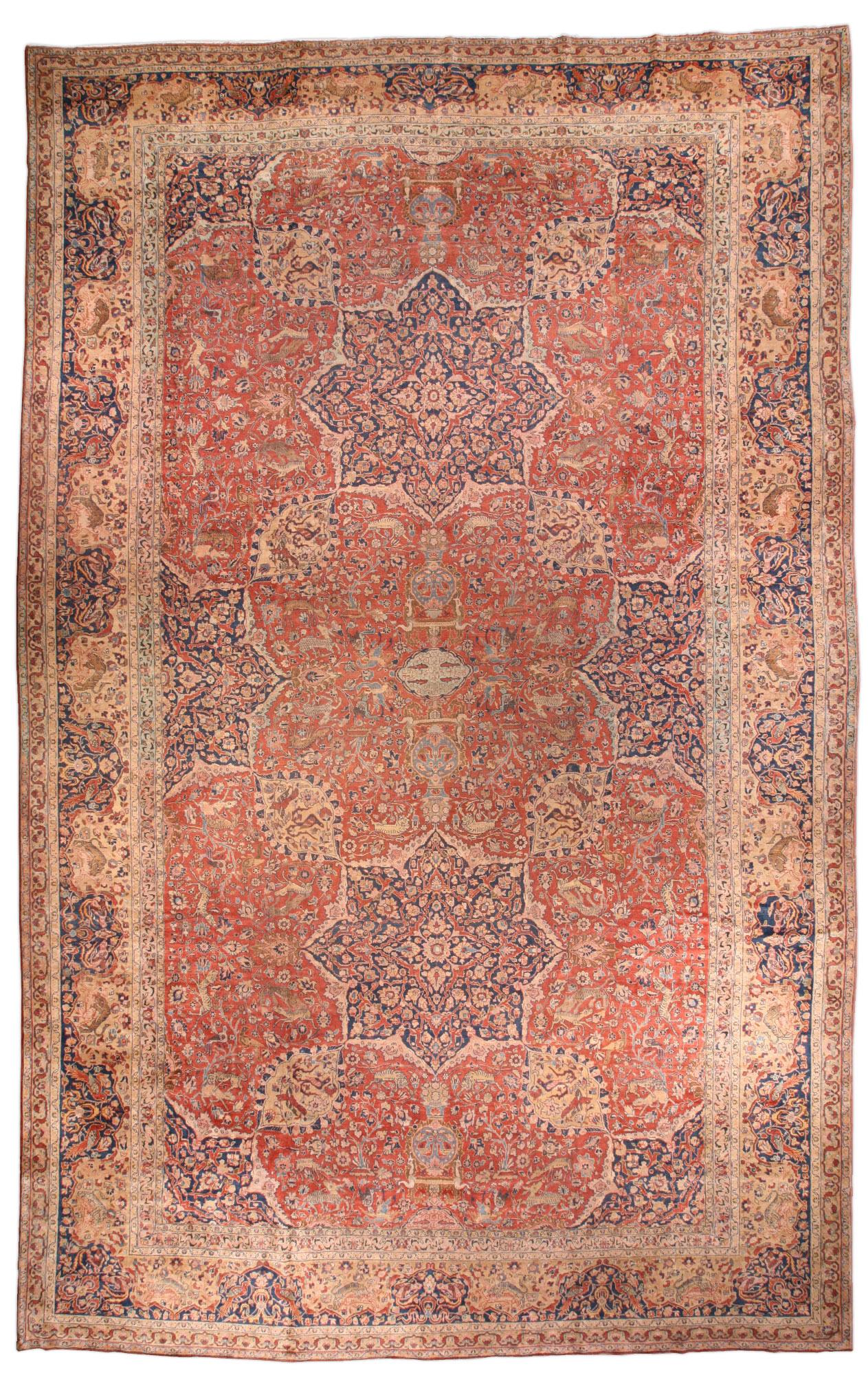 Antique Persian Tabriz Carpet BB1596