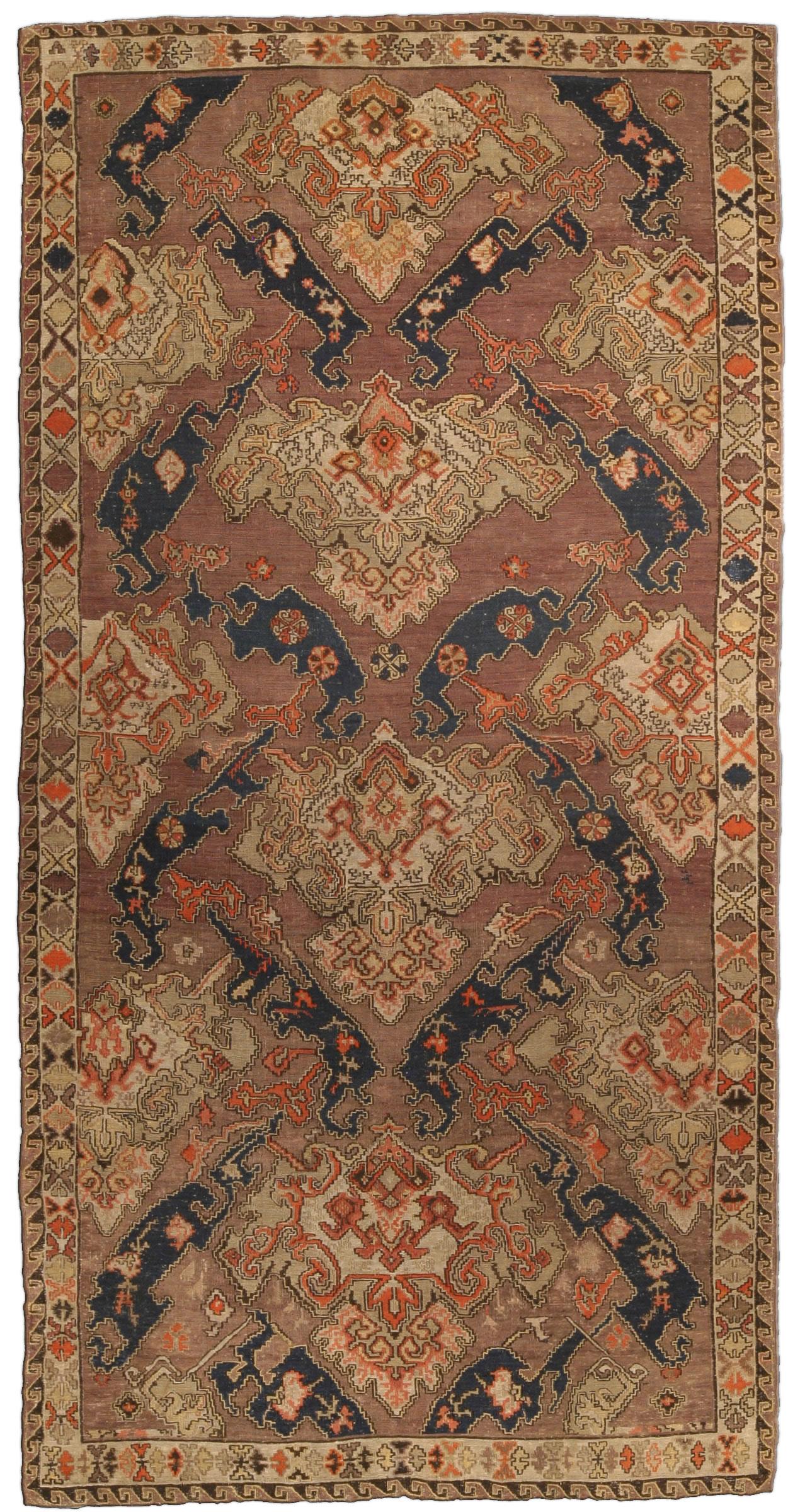 Antique Russian Kilim Carpet Bb4287 By Doris Leslie Blau
