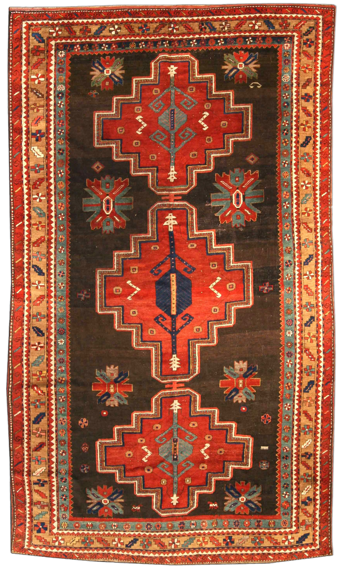 Antique Kazak Rug Bb3912 By Dlb