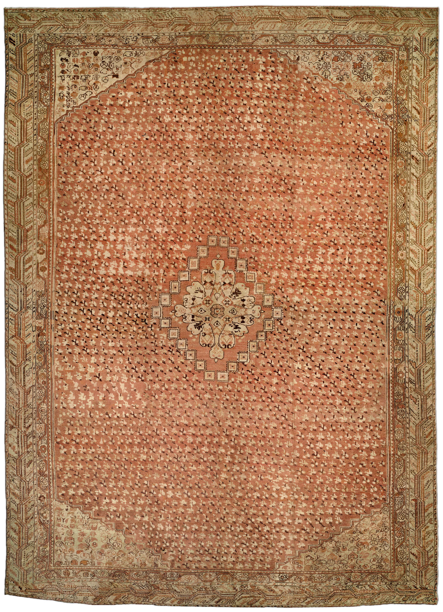 Antique Turkish Ghiordes Carpet BB0883
