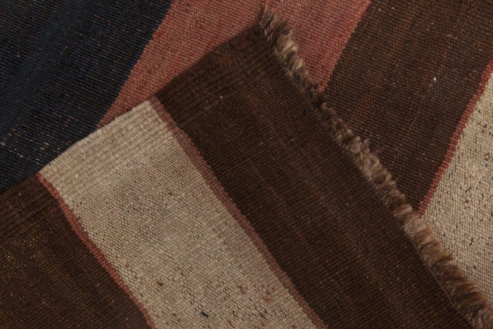 Vintage Etno Turkish Kilim Earth Shade Handwoven Wool Rug BB6513