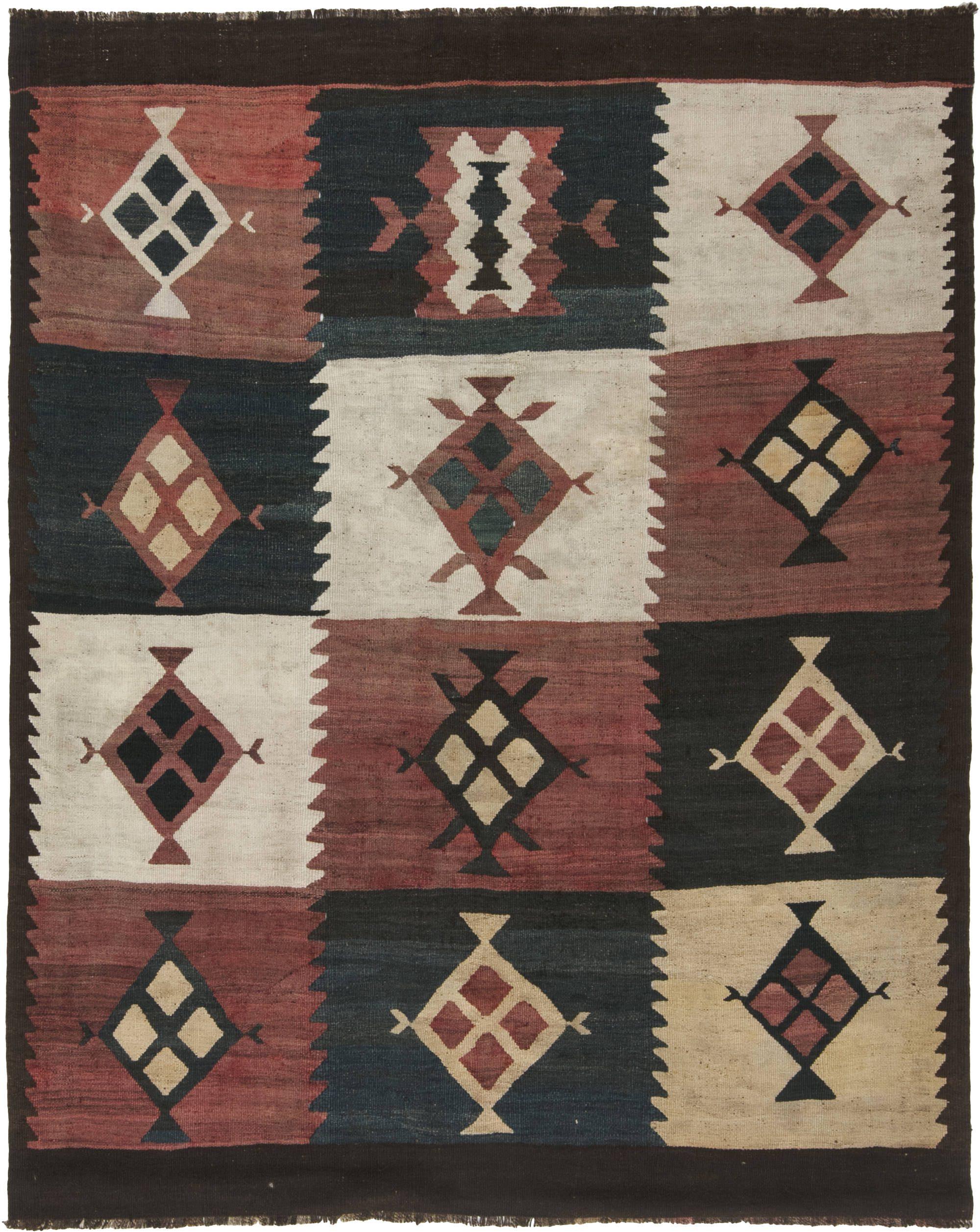 antiguidade-tapetes-turcos-kilim-multi-cor-geométricos-10