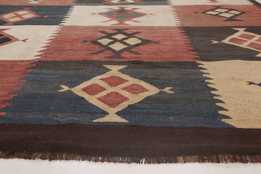 Antique Etno Turkish Kilim Rug in Warm Earthy Colors BB6520