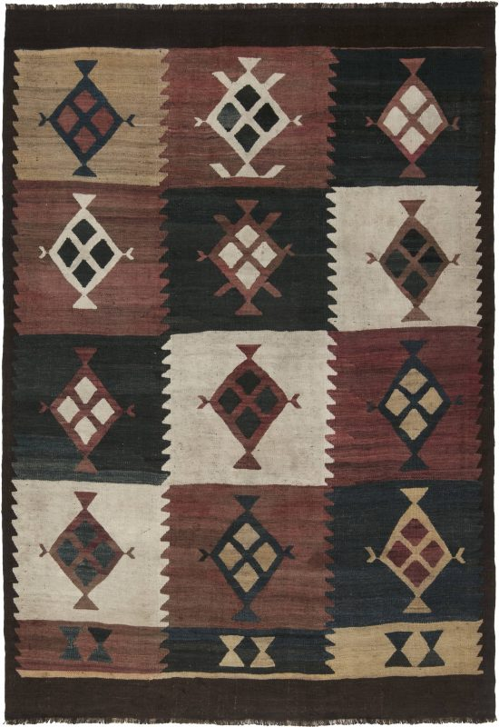 antique-carpets-turkish-kilim-multi-color-geometric-10×7-bb6521