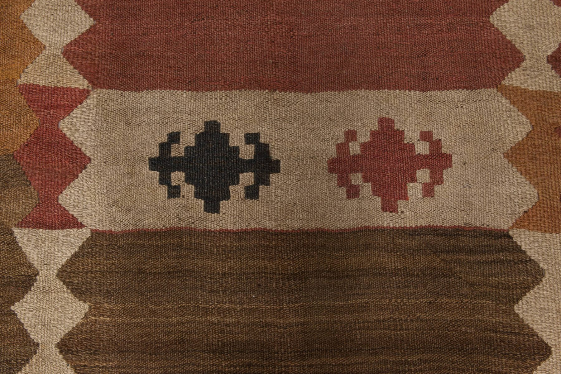 Midcentury Labijar Earthy Colors Hand Knotted Wool Rug BB6518