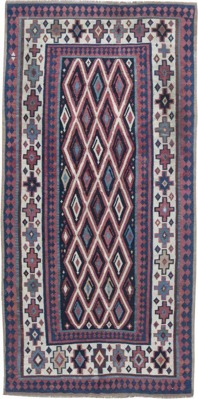 antike-teppiche-türkisch-kelim-pink-geometrisch-11