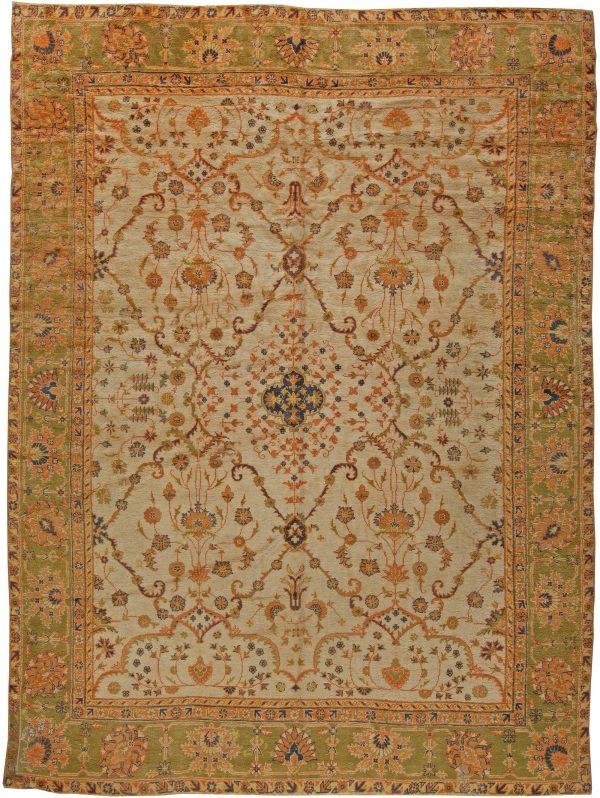 Antique Turkish Oushak Rug BB5666