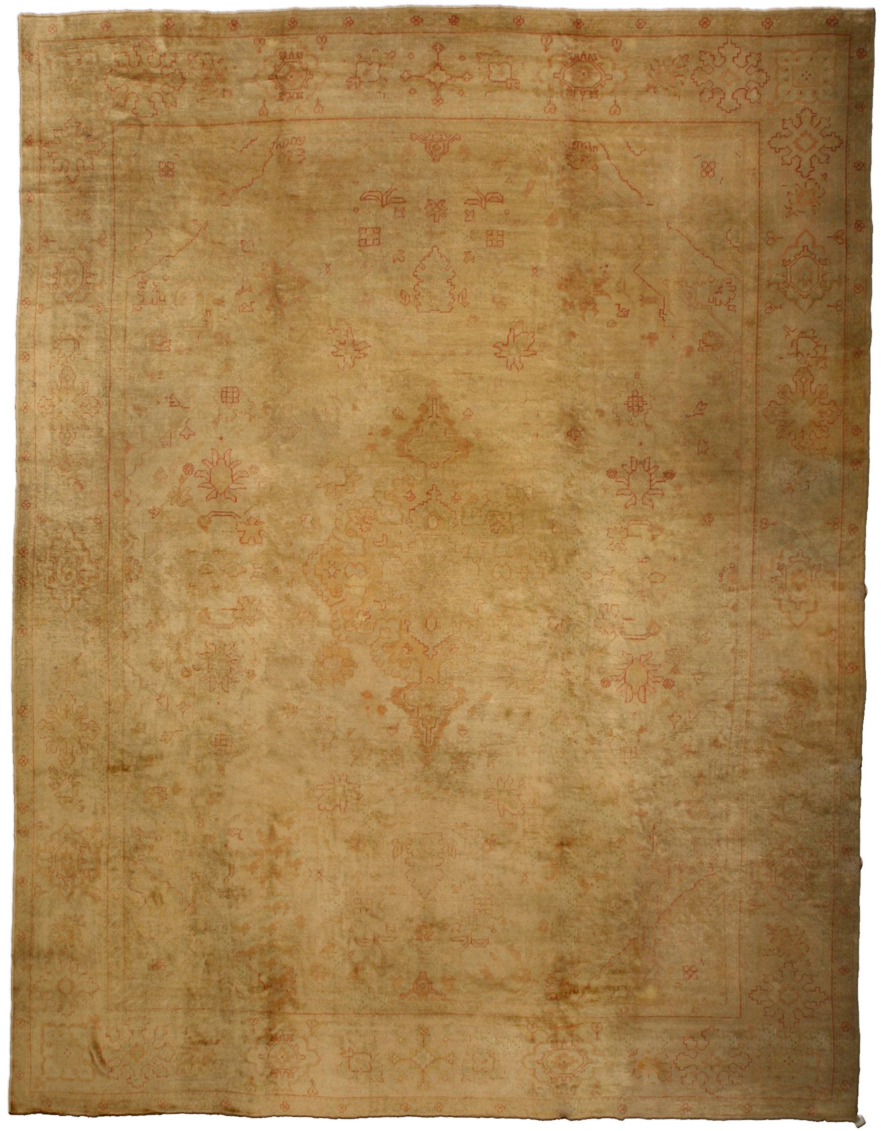 Antique Turkish Oushak Carpet BB1197