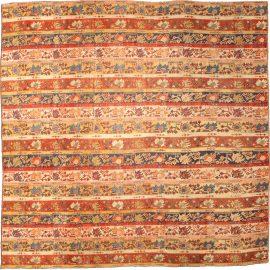 19th Century Turkish Oushak Botanic Handwoven Wool Rug BB4773