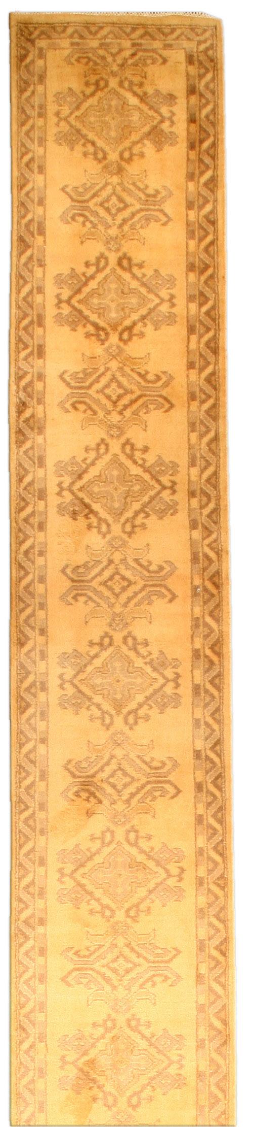 Antique Turkish Oushak runner BB4664