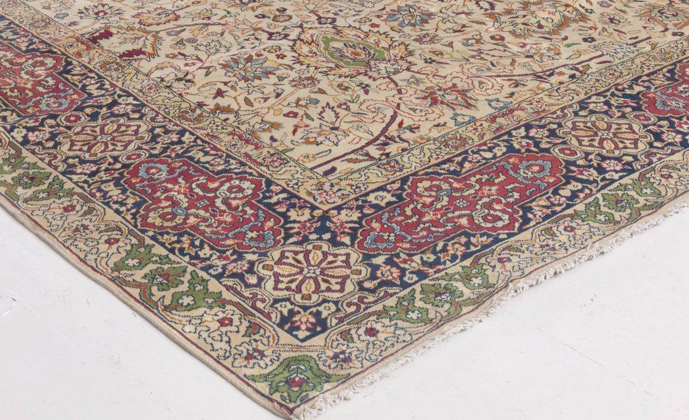 Antique Turkish Sivas Red and Midnight Blue Handwoven Wool Carpet BB1683