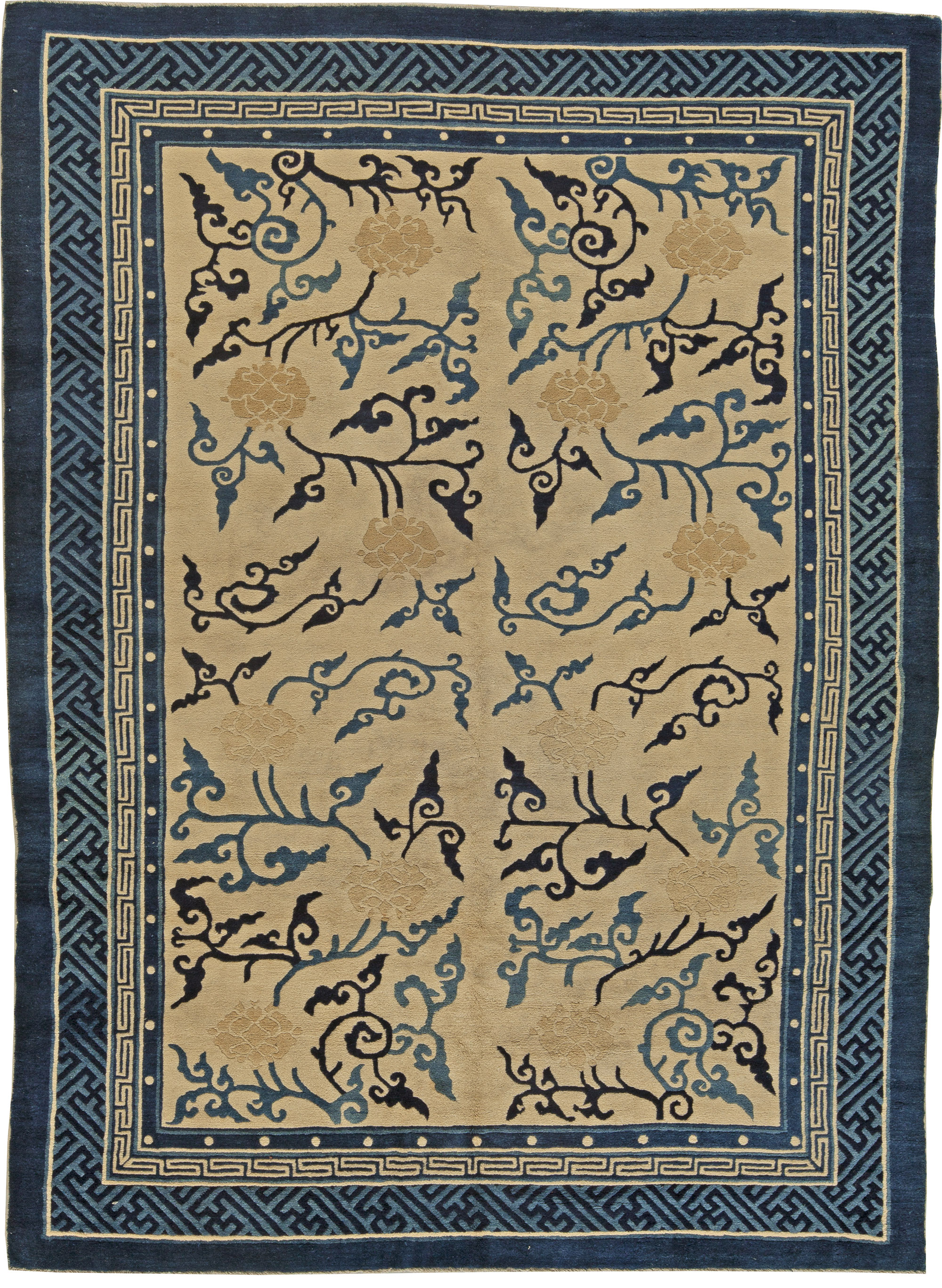 Antique Chinese Rug Bb5493 By Dlb