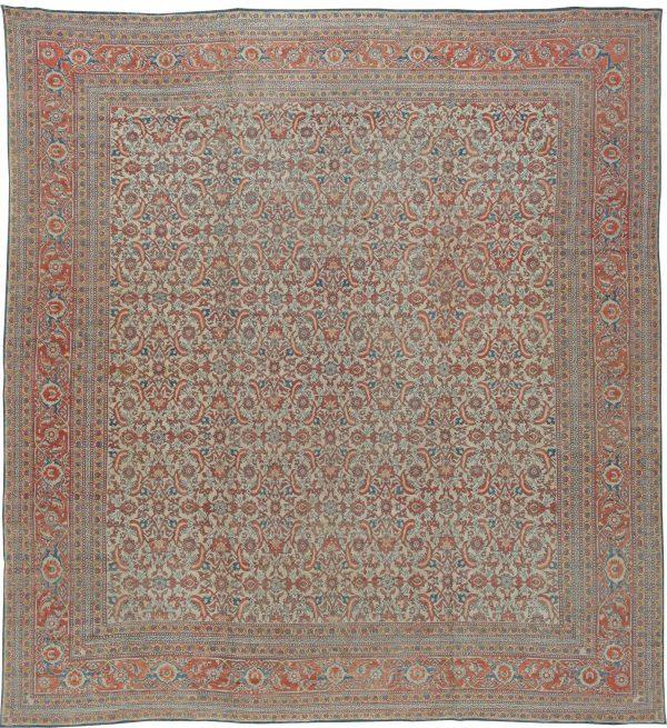 Antique Indian Cotton Agra Carpet BB5595