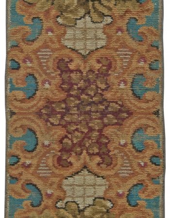 Antique Europea Fragmento Alfombra BB5495