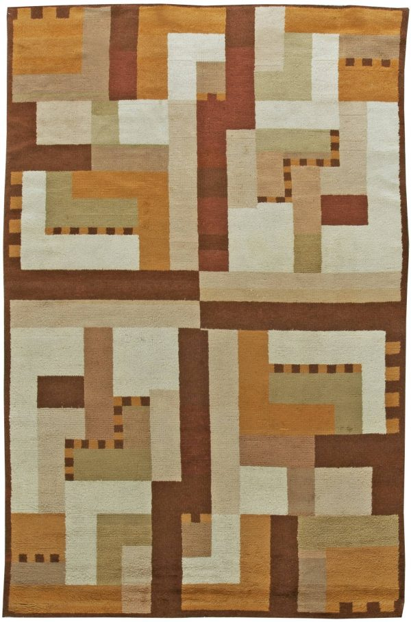 Vintage French Art Deco Rug BB6068