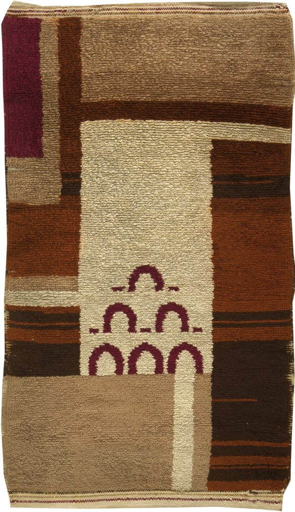 Vintage French Art Deco Rug BB6172