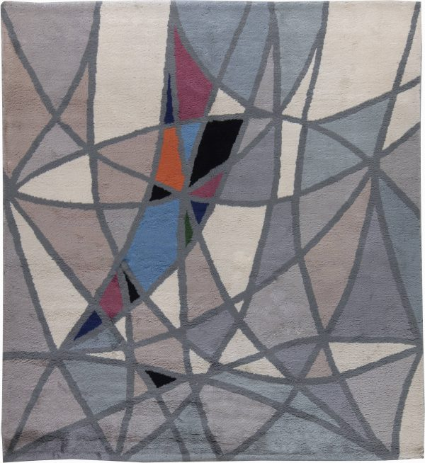 Vintage French Art Deco Rug BB6243