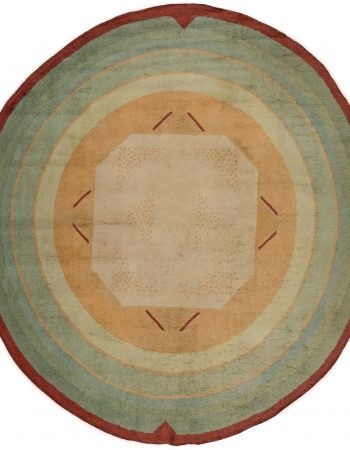 Vintage Art Deco Circle Rug BB6272