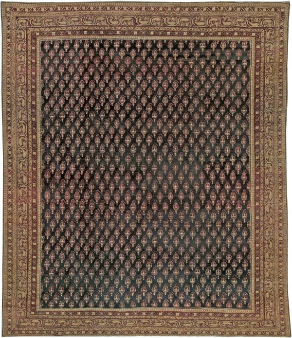 Antique Indian Agra Carpet BB5537