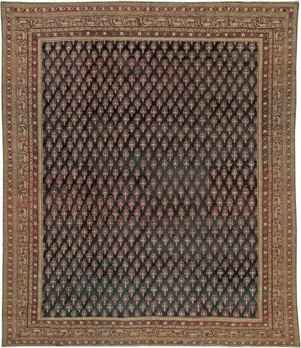 Antiguidade indiana Agra Tapete BB5537