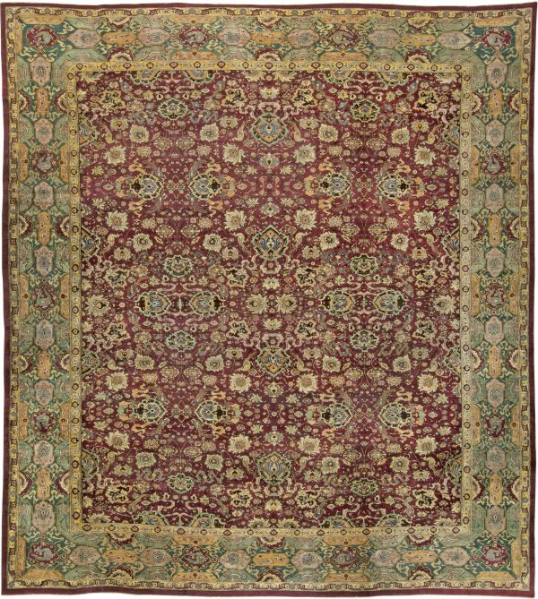 Antique Indian Agra Rug BB5599