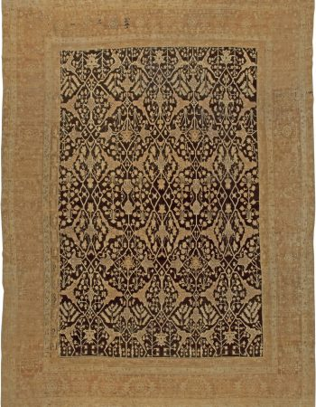 Large Antique Indian Agra Rug BB5592