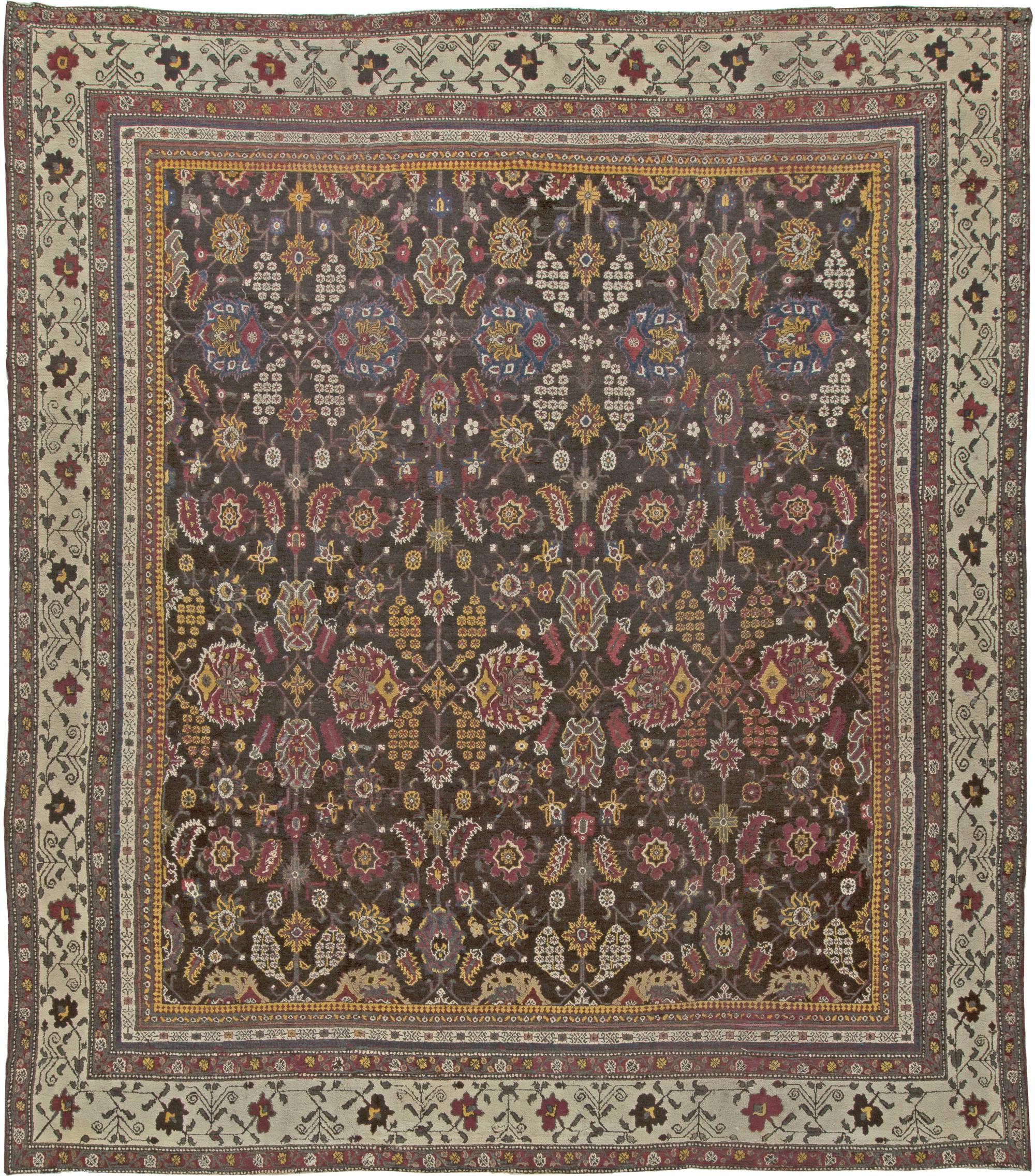 Vintage Indian Agra Carpet Bb5556 By Dlb