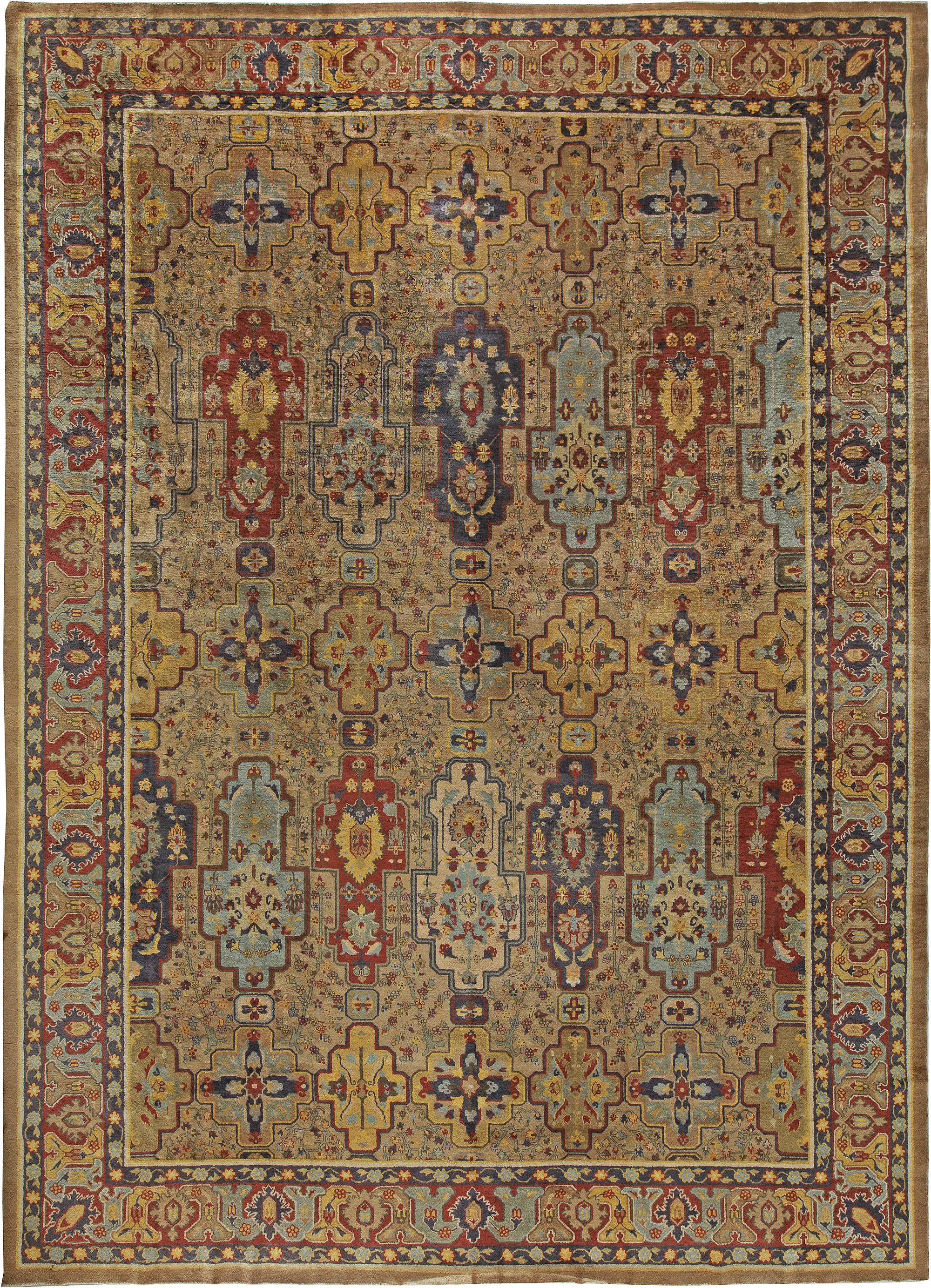 Antique Indian Carpet (size adjusted) BB5601