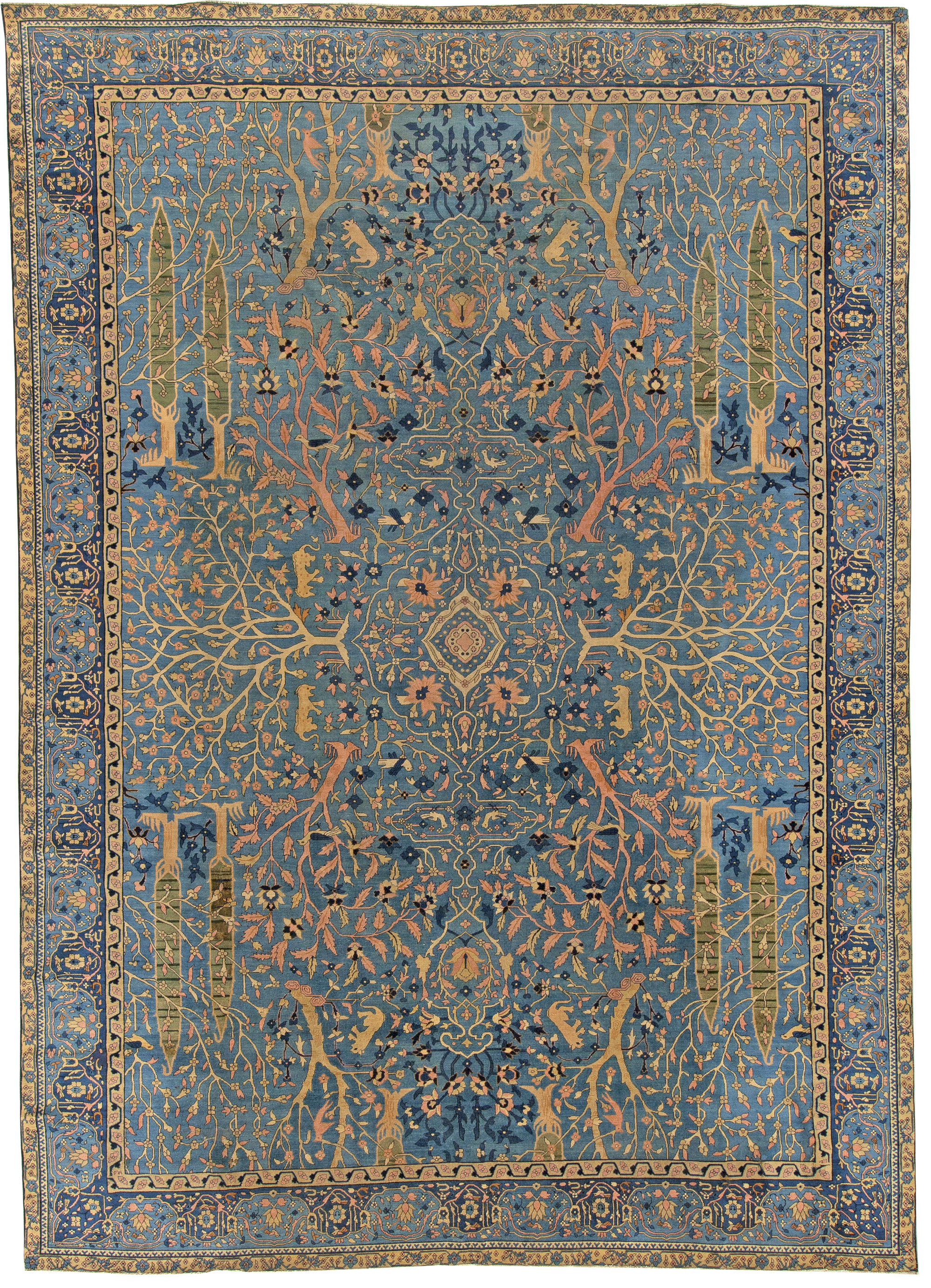 Antique Indian Rug Bb5490 By Dlb
