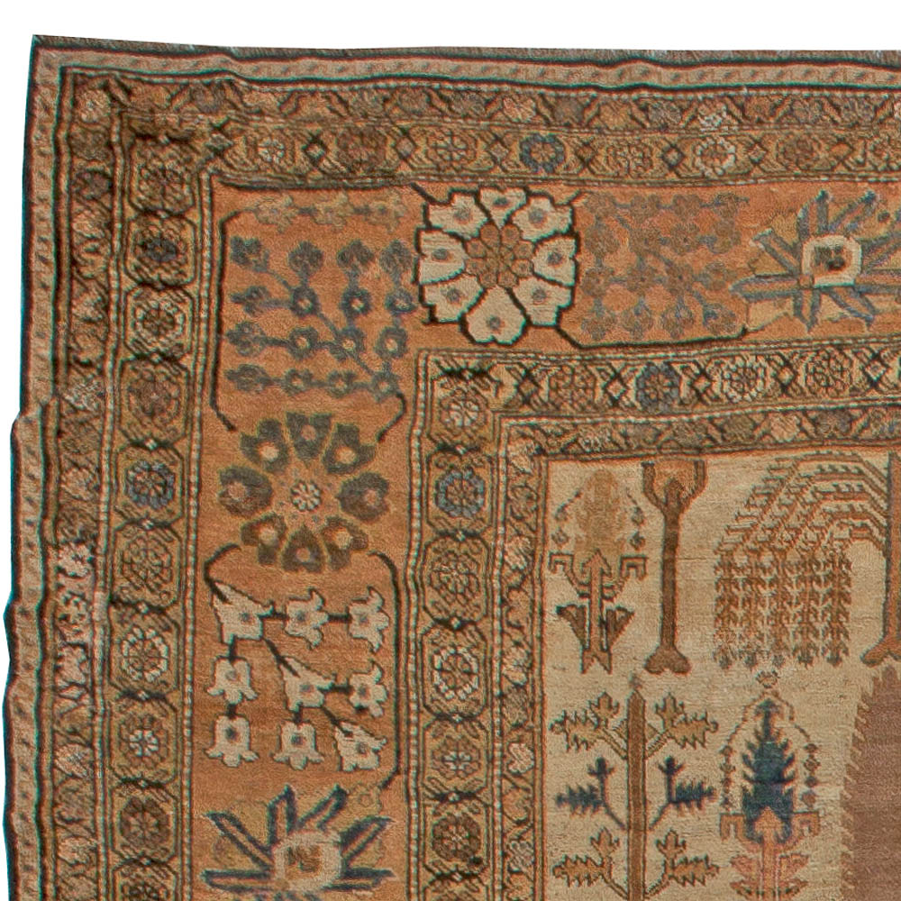 Large Antique Persian Bakhtiari Rug BB5582