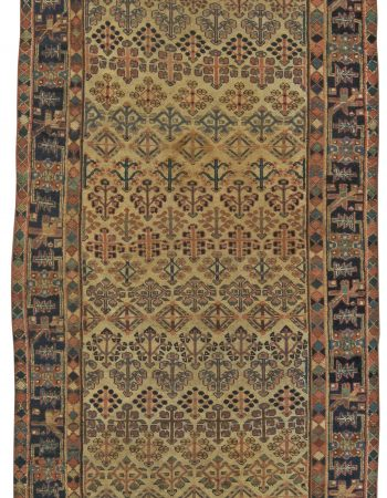 Antique Persian Hamadan Rug (Size Adjusted) BB5862