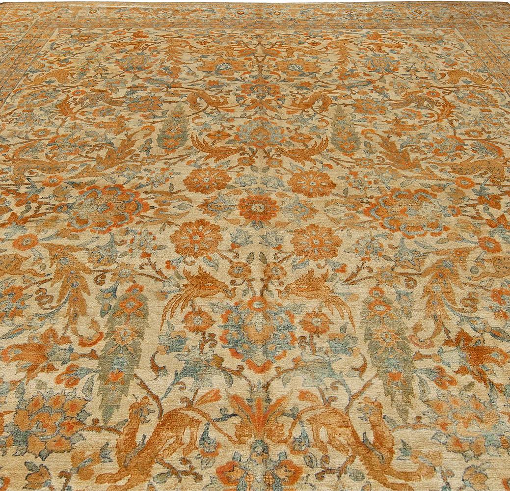 Antique Persian Kirman Rug BB5518
