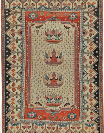 Vintage Persian Malayer Rug BB5628