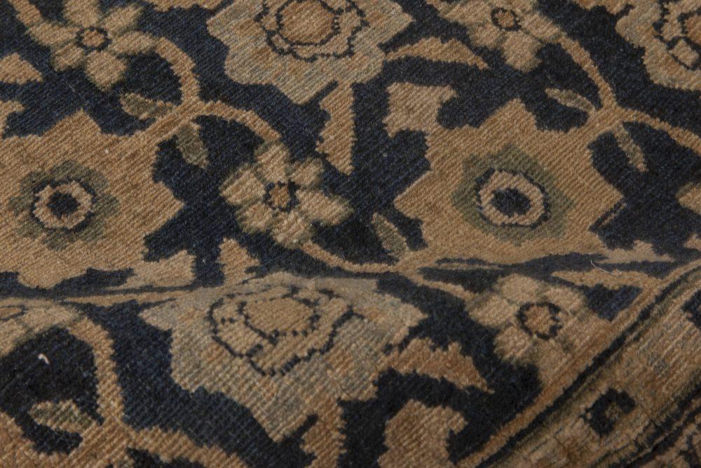 Antique Persian Meshad Botanic, Beige, Brown and Black Rug BB6501