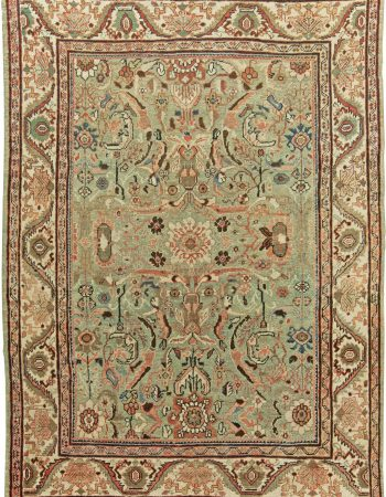 Antique Persian Tabriz Handwoven Wool Rug BB7012