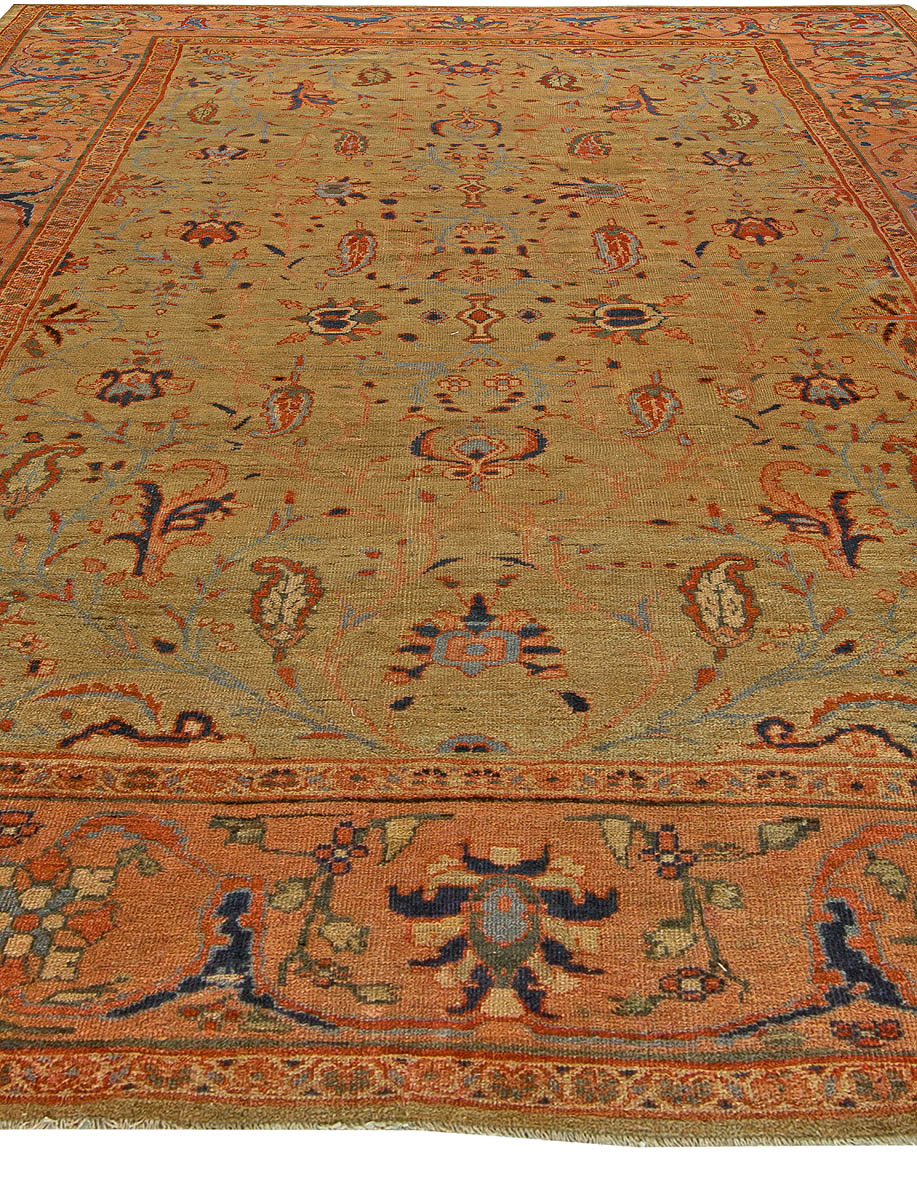Antique Persian Sultanabad Rug Bb6134 By Doris Leslie Blau