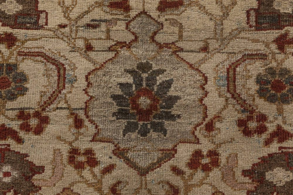 Persian Sultanabad Chestnut, Beige and Burgundy Hand Knotted Rug BB6453