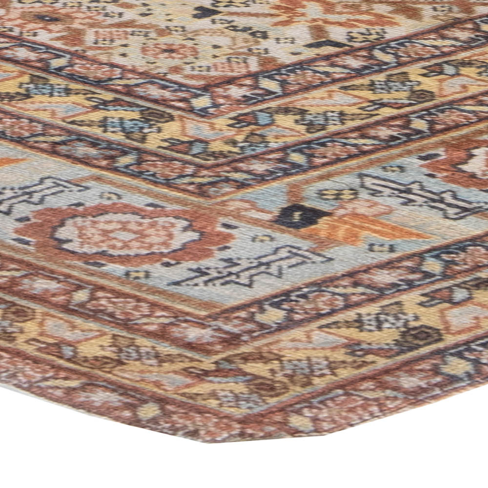 Antique Persian Tabriz Brown, Pink and Gray Handwoven Wool Rug BB6178