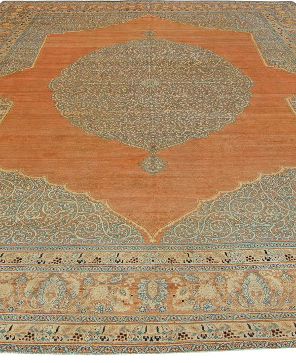 Antique persa Tabriz Tapete BB5472