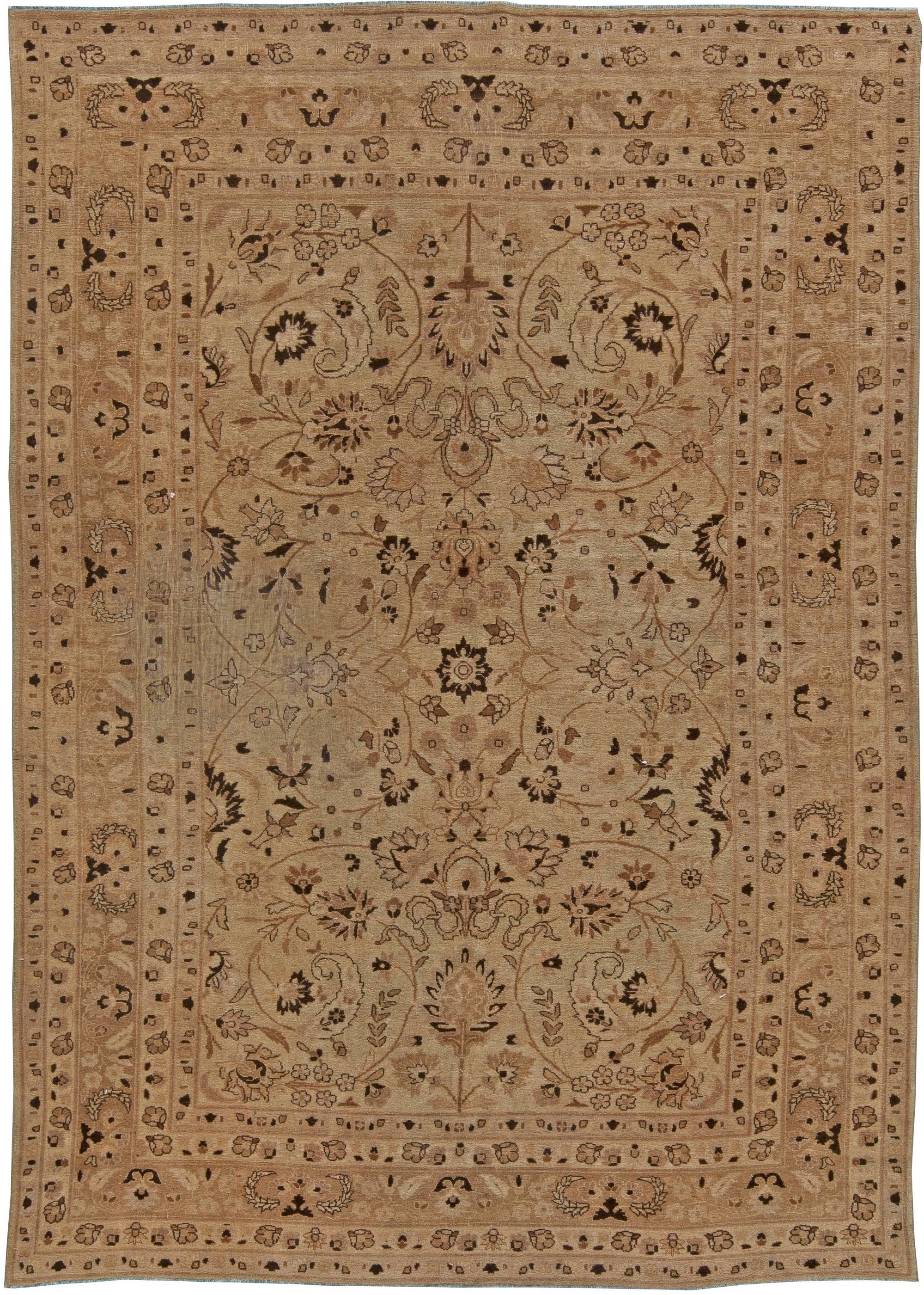 Antique Persian Tabriz Carpet BB5741
