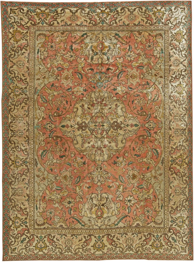 Antique Persian Tabriz Rug Bb6040 By Dlb