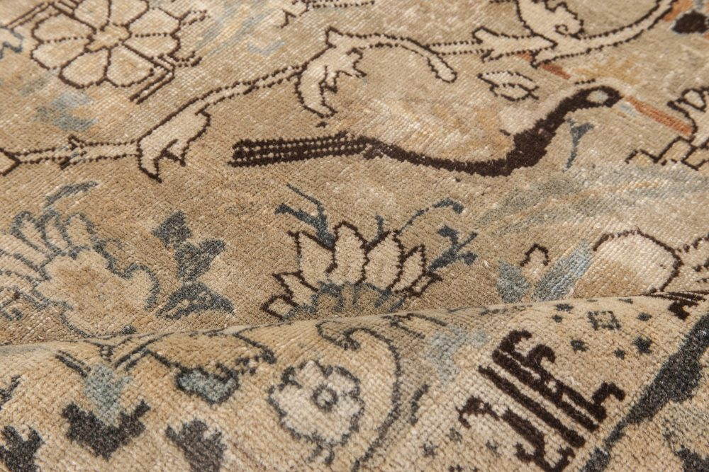 Antique Persian Tabriz Hand Knotted Wool Rug BB6467