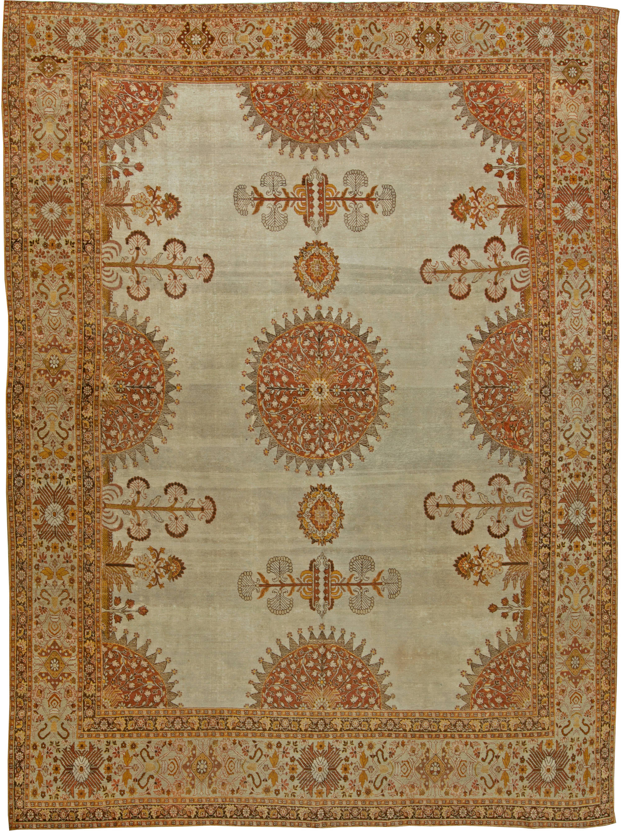 Antique Persian Tabriz Rug Bb6098 By Dlb