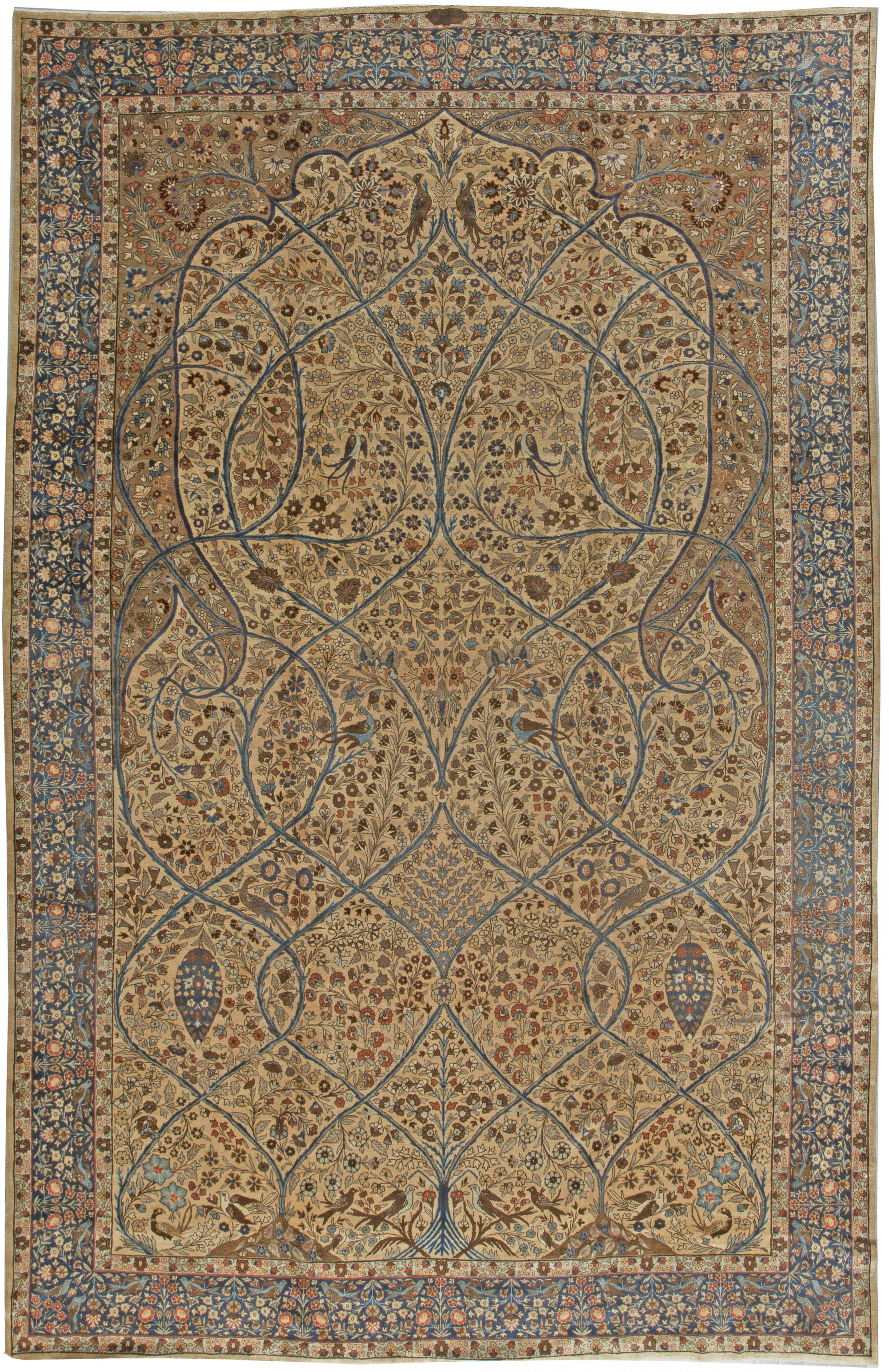 Antique Persian Tabriz Carpet Bb5552 By Doris Leslie Blau
