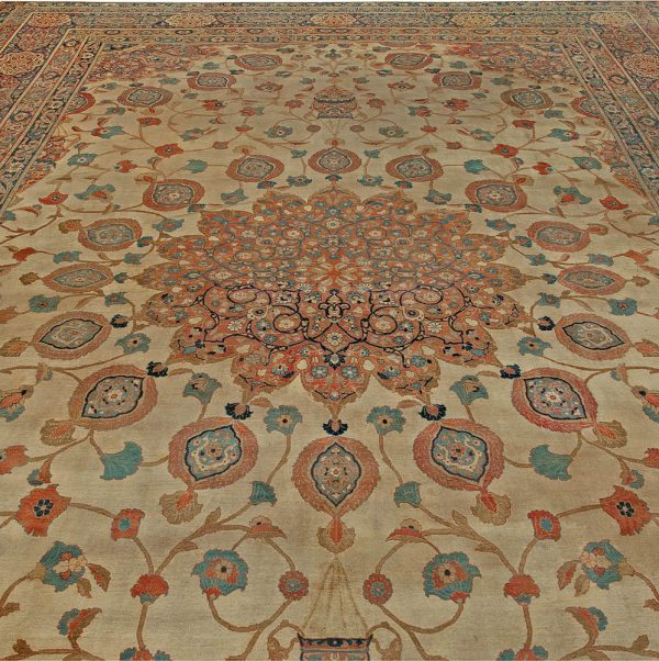 Large Vintage Persian Tabriz Rug BB5576