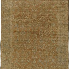 Antique Persian Tabriz Beige, Light blue and Green Carpet BB5881